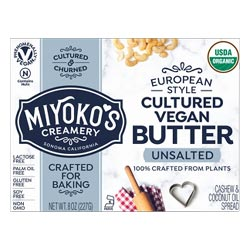 Organic Cultured VeganButter by Miyoko's Creamery - Unsalted THUMBNAIL