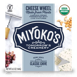 Classic Chive Double Cream Cheese Wheels by Miyoko's Creamery THUMBNAIL