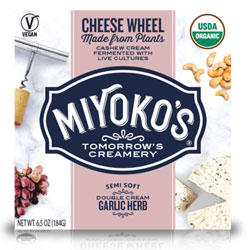 Garlic Herb Double Cream Cheese Wheels by Miyoko's Creamery THUMBNAIL
