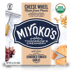 Sundried Tomato Garlic Double Cream Cheese Wheels by Miyoko's Creamery THUMBNAIL