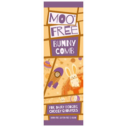 Moo Free Bunnycomb Chocolate Mini Bar THUMBNAIL