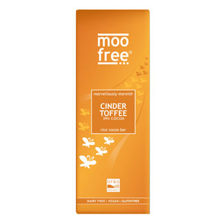 Moo Free Premium Cinder Toffee Rice Milk Chocolate Bar MAIN