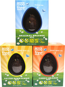 Organic Rice Milk Chocolate Easter Egg by Moo Free