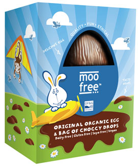 Organic Original Rice Milk Chocolate Easter Egg by Moo Free