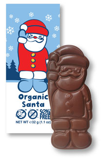Organic Rice Milk Chocolate Santas by Moo Free