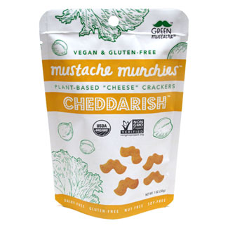 Cheddar-ish Organic Baked Cheesy Crackers by Mustache Munchies - 1 oz. bag MAIN