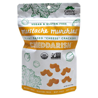 Cheddar-ish Organic Baked Cheesy Crackers by Mustache Munchies - 4 oz. bag MAIN