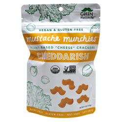 Cheddar-ish Organic Baked Cheesy Crackers by Mustache Munchies - 4 oz. bag THUMBNAIL