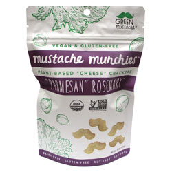 Parmesan Rosemary Organic Baked Cheesy Crackers by Mustache Munchies - 4 oz. bag THUMBNAIL