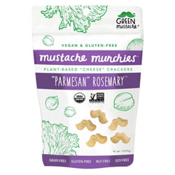 Parmesan Rosemary Organic Baked Cheesy Crackers by Mustache Munchies - 1 oz. bag THUMBNAIL