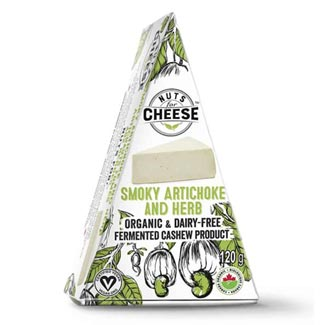 Organic Smoky Artichoke & Herb Wedge by Nuts for Cheese MAIN