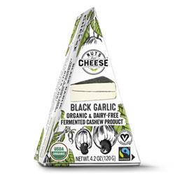 Nuts for Cheese Organic Black Garlic Wedge THUMBNAIL