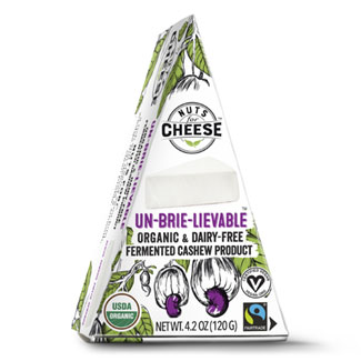 Nuts for Cheese Organic Un-Brie-Lievable Wedge MAIN