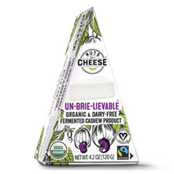 Nuts for Cheese Organic Un-Brie-Lievable Wedge THUMBNAIL