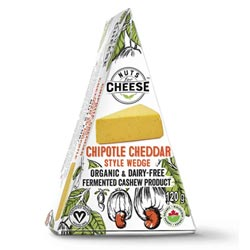 Organic Chipotle Cheddar Wedge by Nuts for Cheese THUMBNAIL