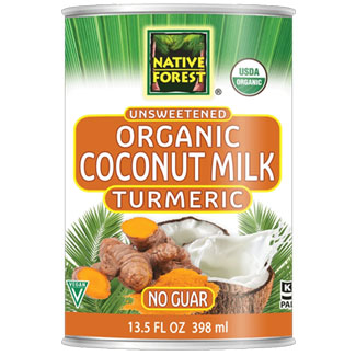 Native Forest Organic Unsweetened Coconut Milk - Turmeric MAIN
