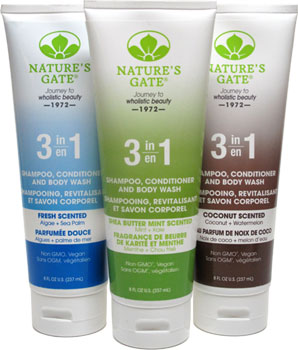 Nature's Gate 3-in-1 Shampoo, Conditioner and Body Washes