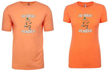 No Meat Athlete Throwback Logo T-Shirt - Orange