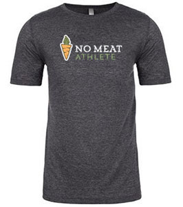 No Meat Athlete Carrot Logo Unisex Super Soft Tee - Grey