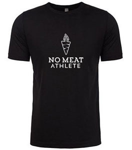 No Meat Athlete Unisex Super Soft Vertical Logo Tee - Black