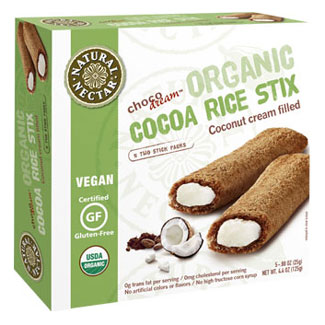 ChocoDream Cocoa Rice Stix with Coconut Cream Filling by Natural Nectar MAIN