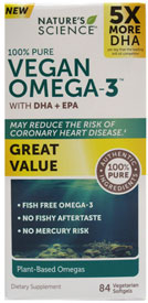 100% Pure Vegan Omega-3 by Nature's Science