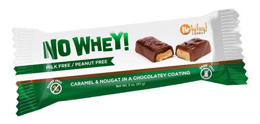 No Whey! Caramel & Nougat Candy Bar by No Whey! Foods LARGE