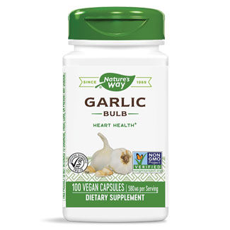 Nature's Way Garlic Bulb - 100 capsule bottle MAIN