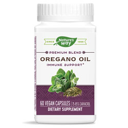 Nature's Way Oregano Oil Immune Support - 60 capsule bottle THUMBNAIL