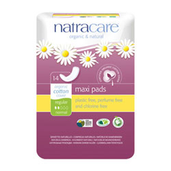 Natracare Natural Cotton Sanitary Pads - Regular THUMBNAIL