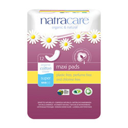 Natracare Natural Cotton Sanitary Pads - Super THUMBNAIL