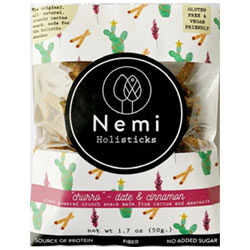 Nemi Holisticks Cruncky Cactus Stick Snacks - Date & Cinnamon Churro THUMBNAIL