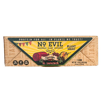 El Zapatista Artisan Mexican Chorizo Sausage by No Evil Foods LARGE