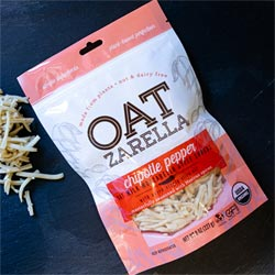 Oatzarella Organic Oat Milk Cheese Shreds - Chipotle Pepper THUMBNAIL