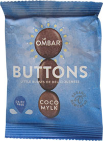 Raw Organic Coco Mylk Buttons by Ombar