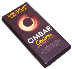 Ombar Coconut & Vanilla Raw Chocolate Bar LARGE