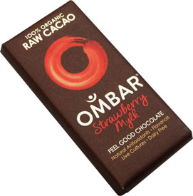 Ombar Organic Raw Strawberry Mylk Chocolate Bar