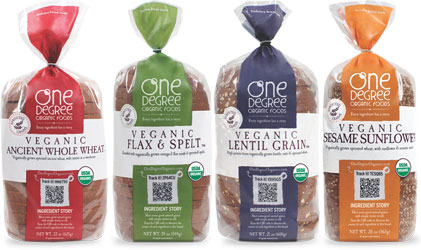 One Degree Organic Bread Loaves