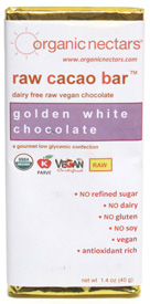 Raw White Chocolate Bar by Organic Nectars