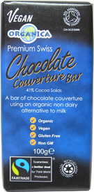 "Organica Premium Swiss ""Milk-Style"" Chocolate Couverture Bar"