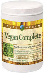 Vegan Complete Meal Replacement Protein Powder by Pure Advantage