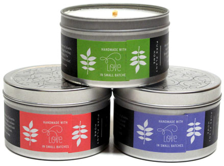 Coconut Wax Candle Tins by Pure Plant Home