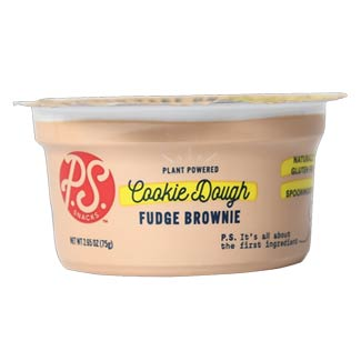 P.S. Snacks Cookie Dough Snack Tubs - Fudge Brownie MAIN