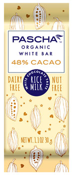 Pascha Organic Vegan White Chocolate Bars