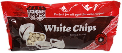 "Vegan ""White Chocolate"" Chips by Paskesz LARGE"
