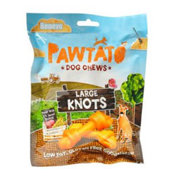 Pawtato Knots Dog Treats by Benevo - Large THUMBNAIL