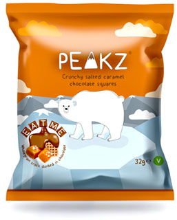 Peakz Crunchy Salted Caramel Chocolate Squares