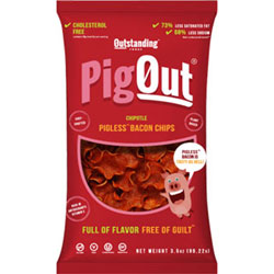 PigOut Pigless Bacon Chips by Outstanding Foods - Chipotle Flavor THUMBNAIL