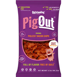 PigOut Pigless Bacon Chips by Outstanding Foods - Original Flavor THUMBNAIL