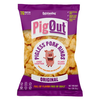 PigOut Pigless Pork Rinds by Outstanding Foods  - Original MAIN